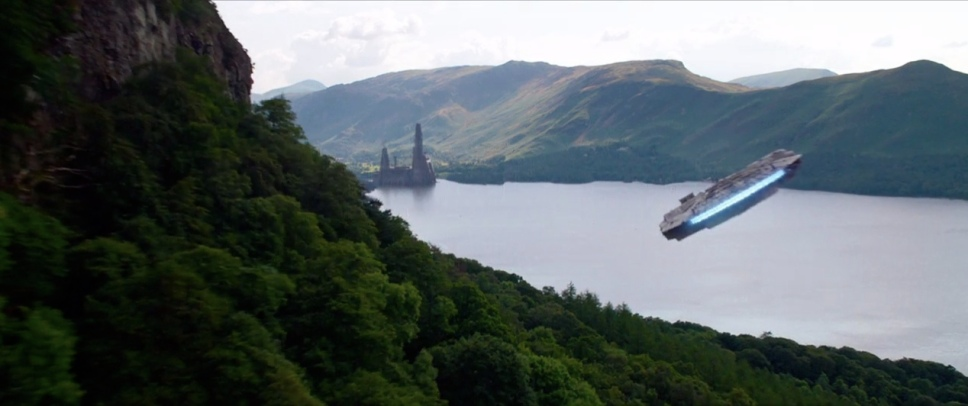 The Millennium Falcon cruises across Derwentwater