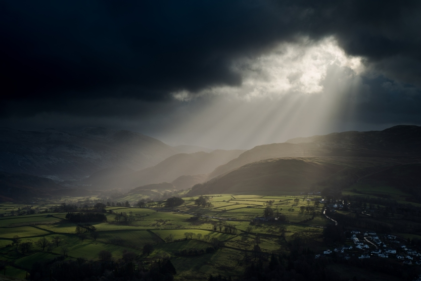 Heavenly light over Castlerigg ©Terry Abraham