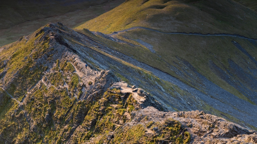 Lone walker, Sharp Edge at dawn ©Terry Abraham